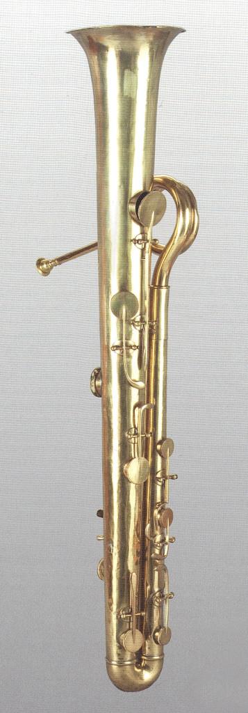 Sax ersetzte das Kesselmundstück mit einem Bassklarinettenmundstück.